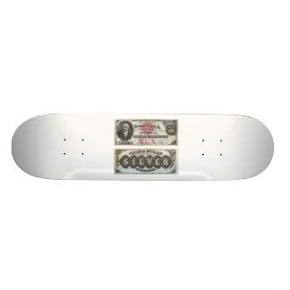 Certificado de plata 1878 del billete de banco de  tabla de skate
