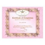 Certificado de rosa de la belleza del diploma de l plantilla de membrete