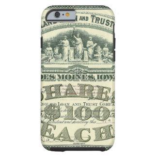 Certificado del capital social de capitales de las funda de iPhone 6 tough
