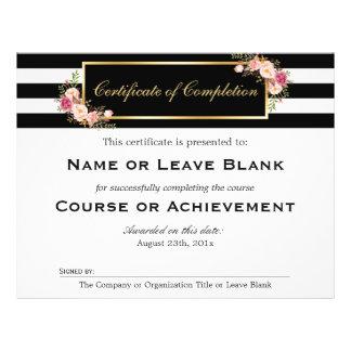 """Certificado del curso del salón de belleza de folleto 8.5"""" x 11"""""""