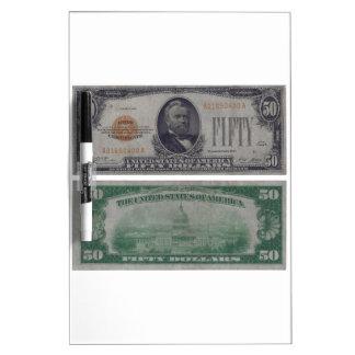 Certificado del oro de 50 Estados Unidos del dólar Pizarra Blanca