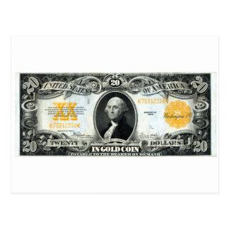 Certificado del oro de los 1922 E.E.U.U. Tarjetas Postales