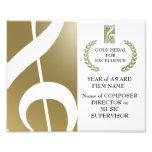 Certificado del premio del oro arte fotográfico