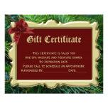 """Certificado del regalo de vacaciones del navidad folleto 4.5"""" x 5.6"""""""