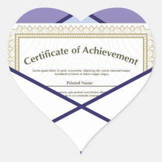 Certificado en vector del sobre pegatina en forma de corazón