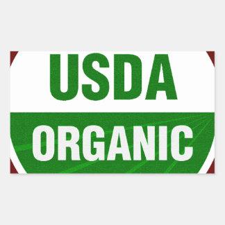 Certificado orgánico del USDA Pegatina Rectangular