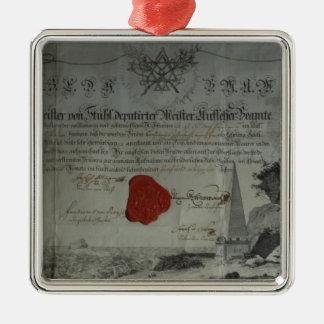 Certificado publicado por el amo adorable adorno para reyes