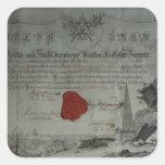 Certificado publicado por el amo adorable pegatinas cuadradases