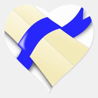 Certificate Heart Sticker