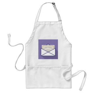 Certificate in Envelope Vector Adult Apron