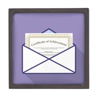 Certificate in Envelope Vector Jewelry Box