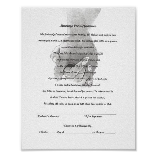 Certificate Marriage Vow Renewal Template Print
