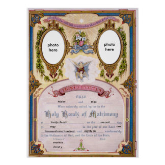 certificate married poster