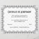 "CERTIFICATE OF ACHIEVEMENT<br><div class=""desc"">Easy-to-customize Certificate Layout for any occassion</div>"