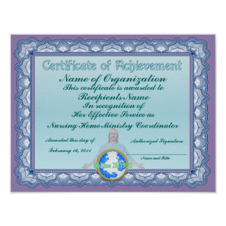 Certificate of Achievement (Christian) Print