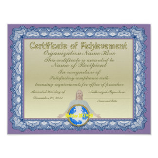 Certificate of Achievement (Christian) Posters