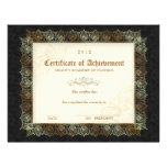 Certificate of Achievement Diploma Beauty Black Letterhead Template