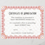 """CERTIFICATE OF APPRECIATION<br><div class=""""desc"""">Easy-to-customize Certificate Layout for any occassion</div>"""