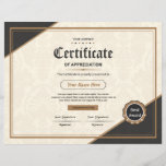 "Certificate Of Appreciation<br><div class=""desc"">Printable Certificate of Appreciation</div>"
