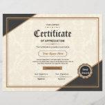 "Certificate Of Appreciation<br><div class=""desc"">Printable Certificate of Appreciation</div>"