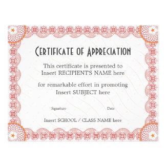 CERTIFICATE OF APPRECIATION FLYER DESIGN