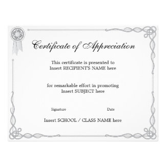 CERTIFICATE OF APPRECIATION FLYER