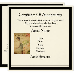 certificate of authenticity template for artists - Stem Certificate Template