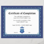 "CERTIFICATE OF COMPLETION<br><div class=""desc"">Easy-to-customize Certificate Layout for any occassion</div>"