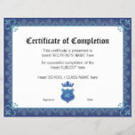 """CERTIFICATE OF COMPLETION<br><div class=""""desc"""">Easy-to-customize Certificate Layout for any occassion</div>"""