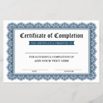 Certificate of Completion - Add Your Text