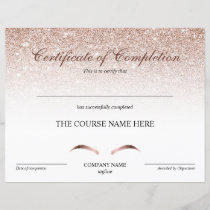 Certificate of Completion Award Brows Course