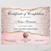 Certificate of Completion Award Course Completion