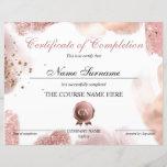 "Certificate of Completion Award Course Completion<br><div class=""desc"">Makeup artist Wink Eye Beauty Salon Lash Extension Course Completion</div>"