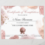 "Certificate of Completion Award Course Completion<br><div class=""desc"">Makeup artist Wink Eye Beauty Salon Lash Extension Course Completion</div>"