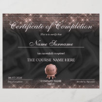 Certificate of Completion Award Makeup lash Course
