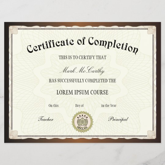 graphic relating to Printable Certificate of Completion identify Certification of Completion Template
