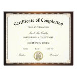"Certificate of Completion Template 8.5"" X 11"" Flyer"