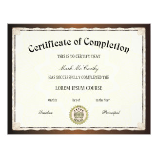 Certificate of Completion Template Flyer