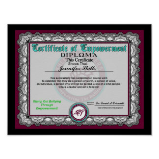 Certificate of Empowerment Poster
