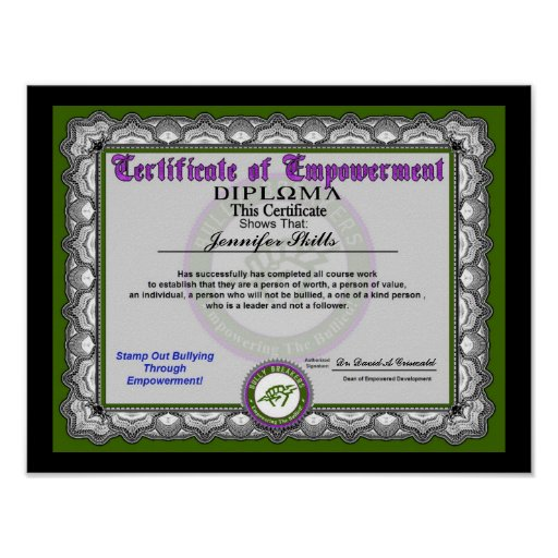 Certificate of Empowerment Posters