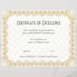 "CERTIFICATE OF EXCELLENCE<br><div class=""desc"">Easy-to-customize Certificate Layout for any occassion</div>"