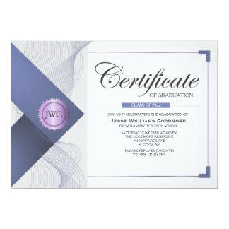 Certificate of Graduation Invitation