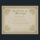 "Certificate of Marriage Art Print<br><div class=""desc"">Certificate of Marriage Art Print</div>"