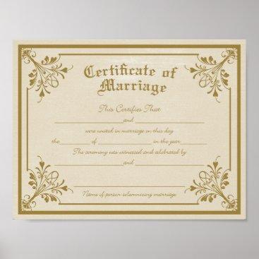 CloutDesign Certificate of Marriage Art Print