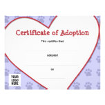 Certificate of Pet Adoption Custom Flyer