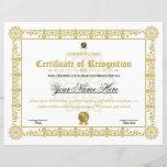 "Certificate Of Recognition<br><div class=""desc"">Certificate Template. Printable Certificate of Recognition</div>"