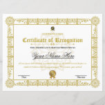 "Certificate Of Recognition<br><div class=""desc"">Certificate Template. Printable Certificate of Recognition</div>"