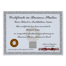 Certificate of Subject Curriculum Award Photo ID Poster at Zazzle