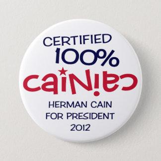 Certified 100% Cainiac - Cain 2012 Button