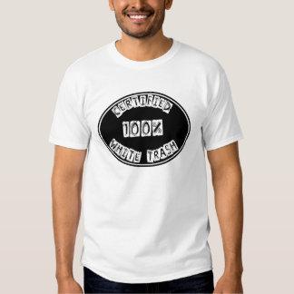 Certified 100% White Trash Muscle Tank Shirt